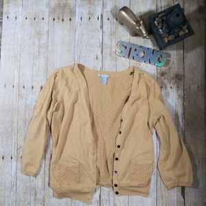 💖H&M mustard color cardigan SZ M